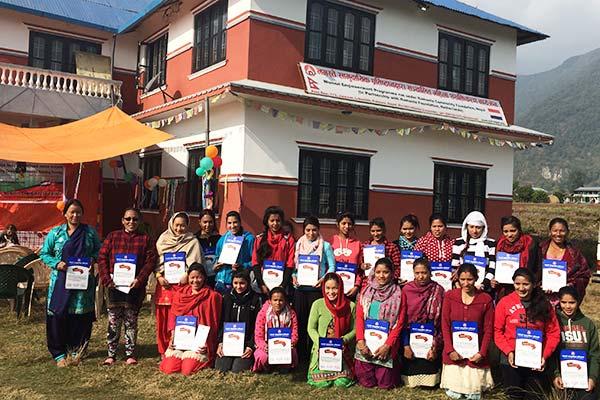 De deelnemers van het Women Empowerment Project