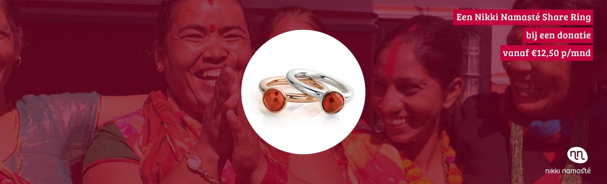 Nikki Namasté Ring Bij Donatie
